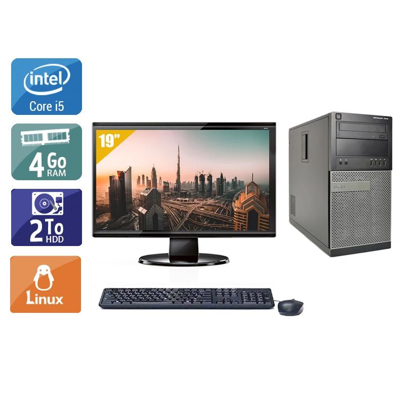 Dell Optiplex 790 Tower i5 avec Écran 19 pouces 4Go RAM 2To HDD Linux