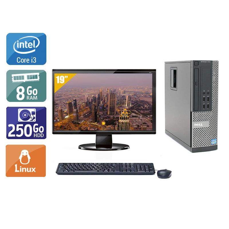 Dell Optiplex 790 SFF i3 avec Écran 19 pouces 8Go RAM 250Go HDD Linux