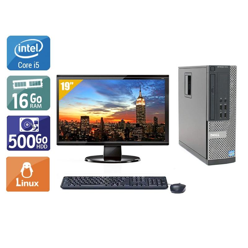 Dell Optiplex 790 SFF i5 avec Écran 19 pouces 16Go RAM 500Go HDD Linux