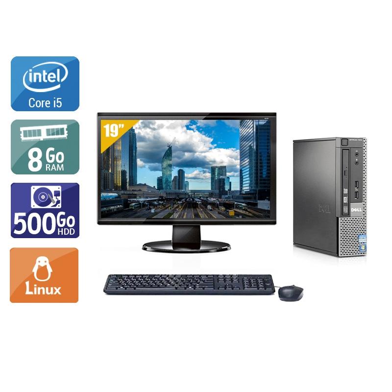 Dell Optiplex 790 USDT i5 avec Écran 19 pouces 8Go RAM 500Go HDD Linux