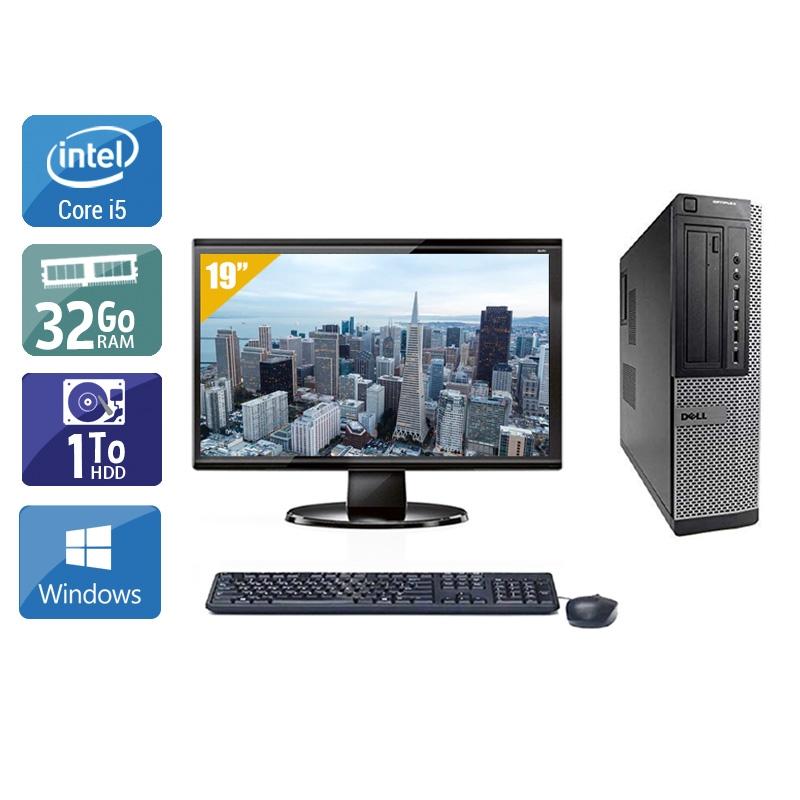 Dell Optiplex 9010 Desktop i5 avec Écran 19 pouces 32Go RAM 1To HDD Windows 10