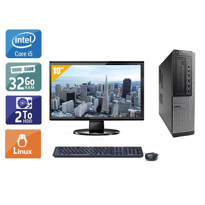 Dell Optiplex 9010 Desktop i5 avec Écran 19 pouces 32Go RAM 2To HDD Linux