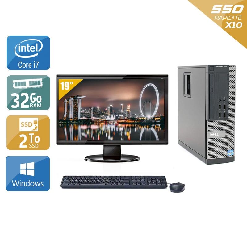 Dell Optiplex 9010 SFF i7 avec Écran 19 pouces 32Go RAM 2To SSD Windows 10