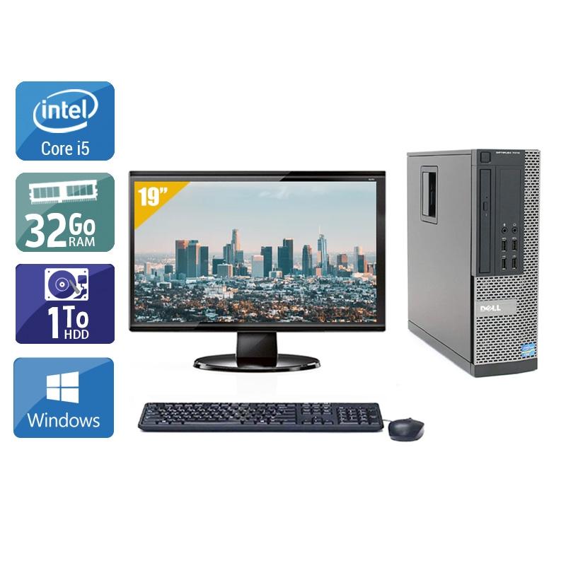 Dell Optiplex 9020 SFF i5 avec Écran 19 pouces 32Go RAM 1To HDD Windows 10
