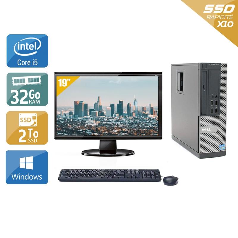 Dell Optiplex 9020 SFF i5 avec Écran 19 pouces 32Go RAM 2To SSD Windows 10