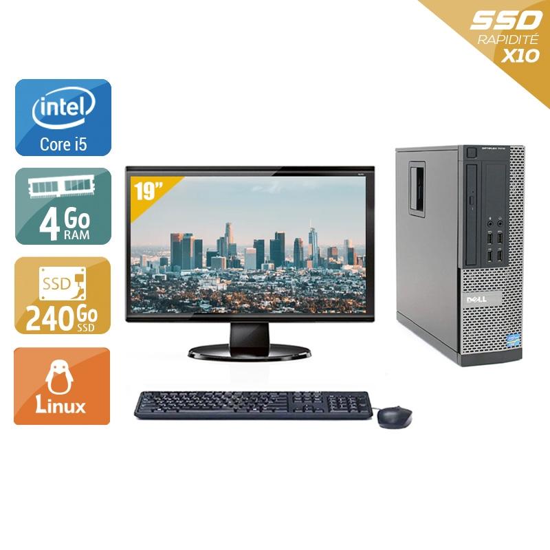 Dell Optiplex 9020 SFF i5 avec Écran 19 pouces 4Go RAM 240Go SSD Linux