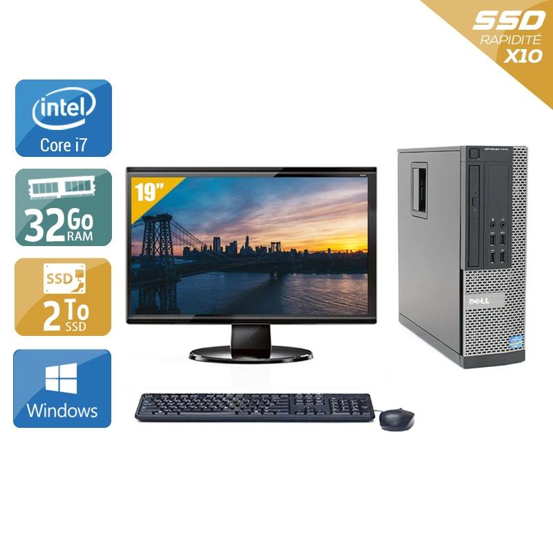 Dell Optiplex 9020 SFF i7 avec Écran 19 pouces 32Go RAM 2To SSD Windows 10