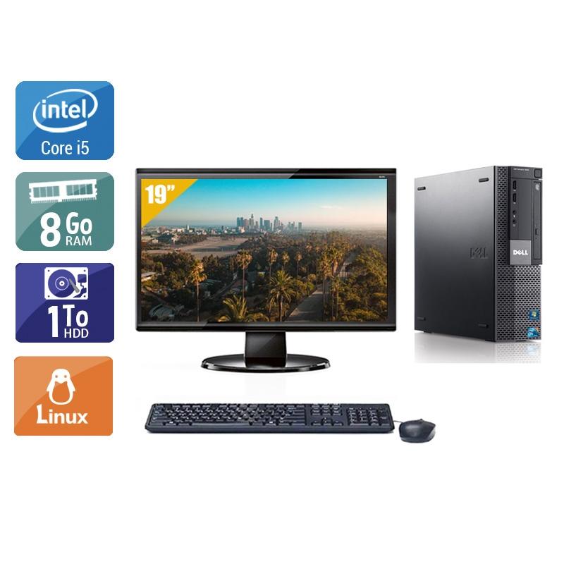 Dell Optiplex 980 Desktop i5 avec Écran 19 pouces 8Go RAM 1To HDD Linux