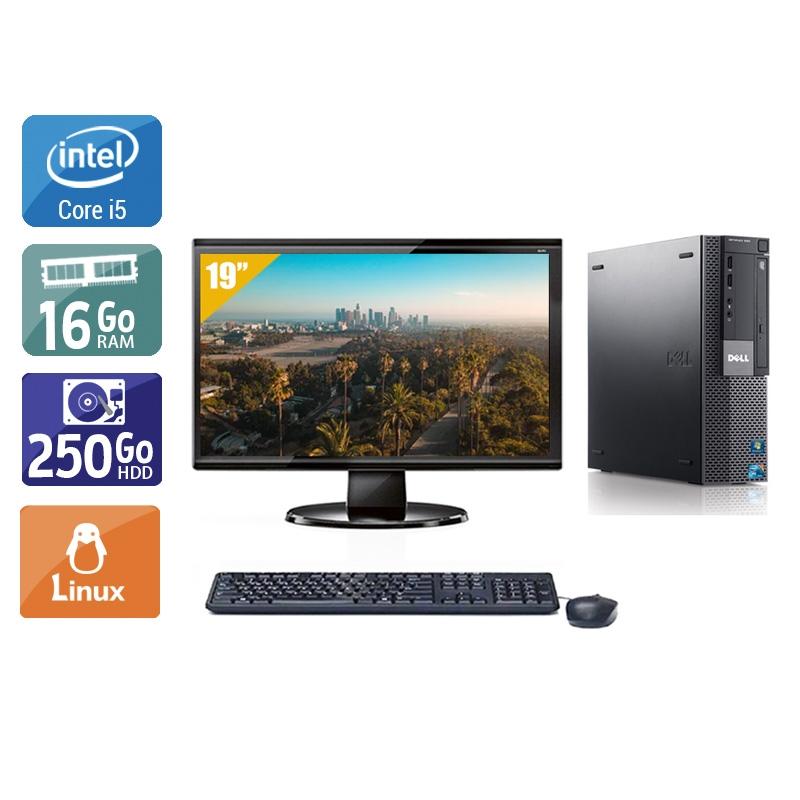 Dell Optiplex 980 Desktop i5 avec Écran 19 pouces 16Go RAM 250Go HDD Linux