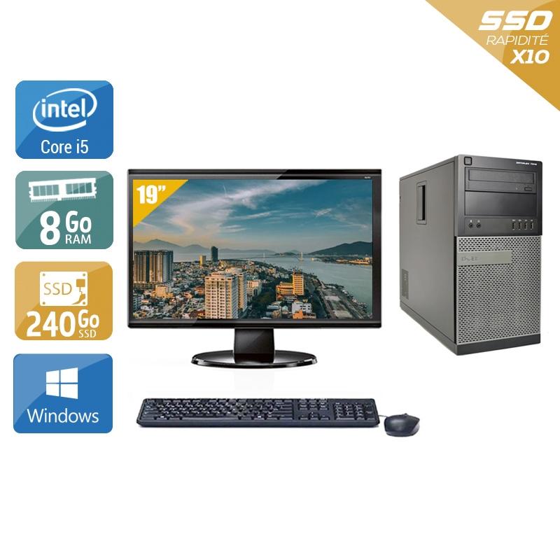 Dell Optiplex 990 Tower i5 avec Écran 19 pouces 8Go RAM 240Go SSD Windows 10