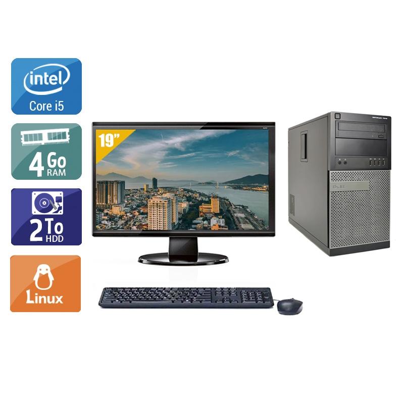 Dell Optiplex 990 Tower i5 avec Écran 19 pouces 4Go RAM 2To HDD Linux