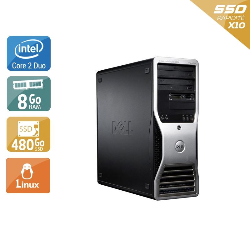 Dell Précision T3400 Tower Core 2 Duo 8Go RAM 480Go SSD Linux