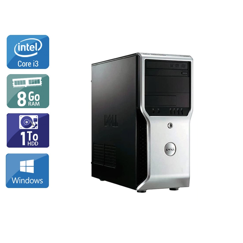 Dell Précision T1500 Tower i3 8Go RAM 1To HDD Windows 10