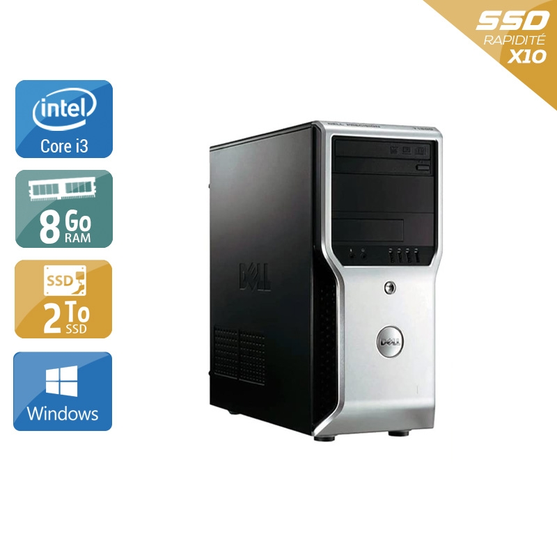 Dell Précision T1500 Tower i3 8Go RAM 2To SSD Windows 10