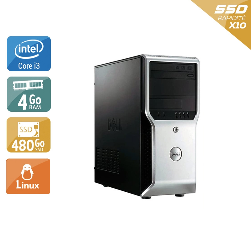Dell Précision T1500 Tower i3 4Go RAM 480Go SSD Linux