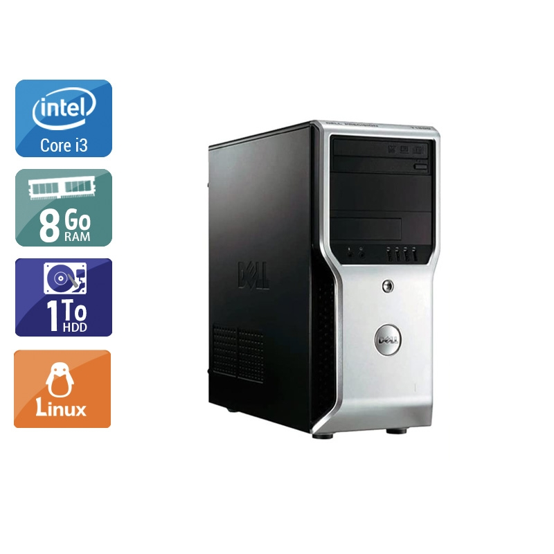 Dell Précision T1500 Tower i3 8Go RAM 1To HDD Linux