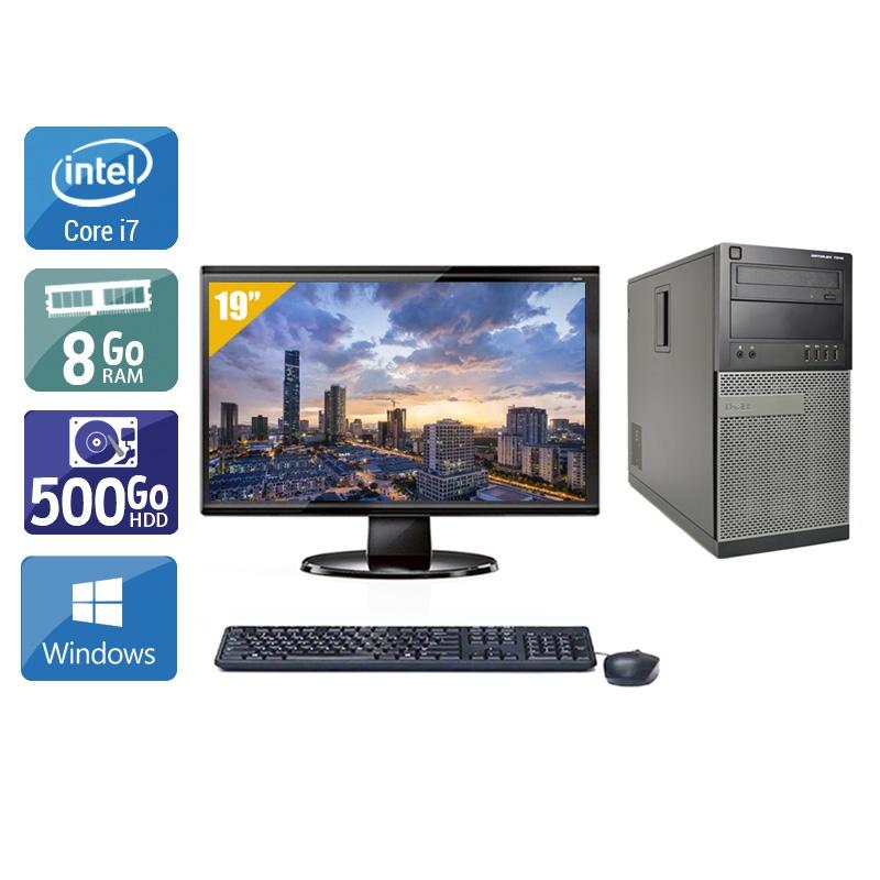 Dell Optiplex 990 Tower i7 avec Écran 19 pouces 8Go RAM 500Go HDD Windows 10