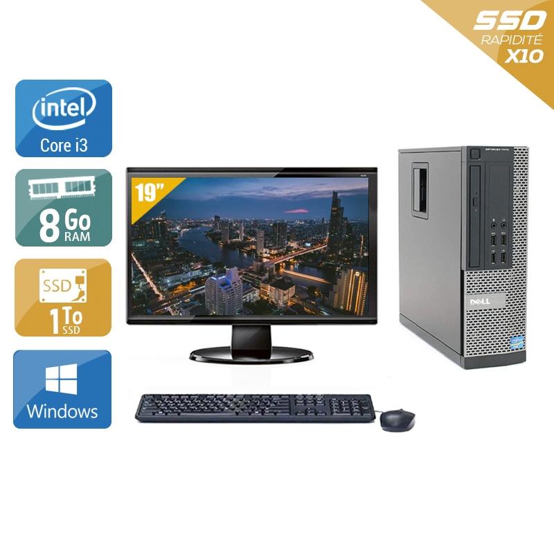 Dell Optiplex 990 SFF i3 avec Écran 19 pouces 8Go RAM 1To SSD Windows 10