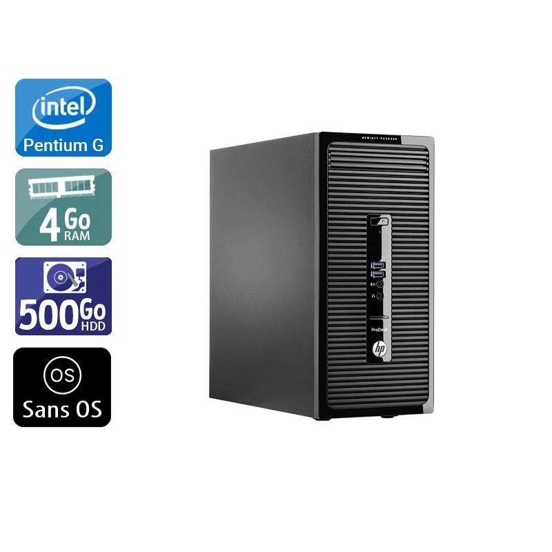 HP ProDesk 400 G2 Tower Pentium G Dual Core 4Go RAM 500Go HDD Sans OS