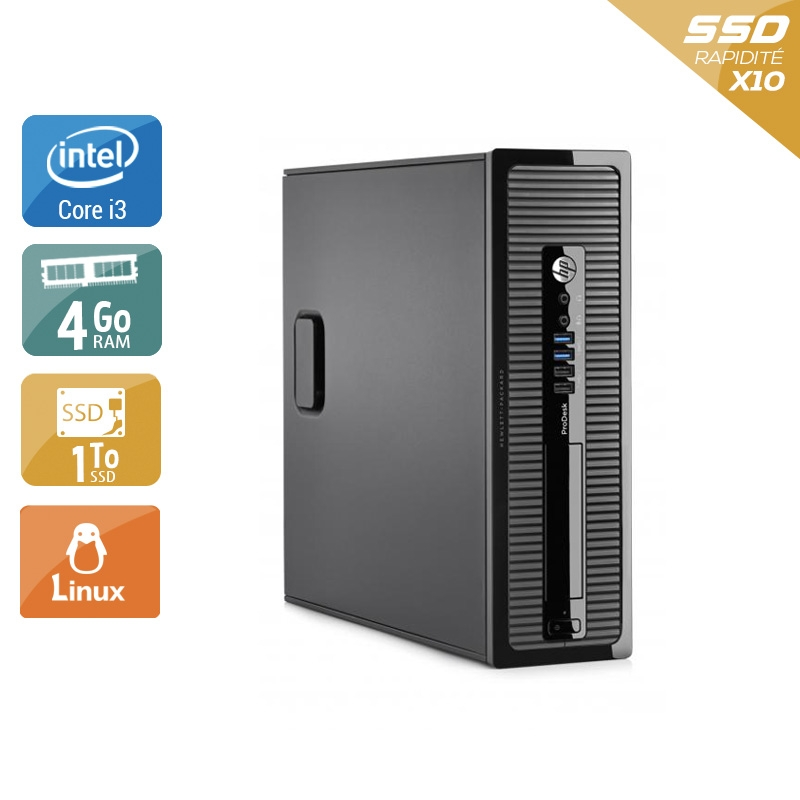 HP ProDesk 400 G2 SFF i3 4Go RAM 1To SSD Linux