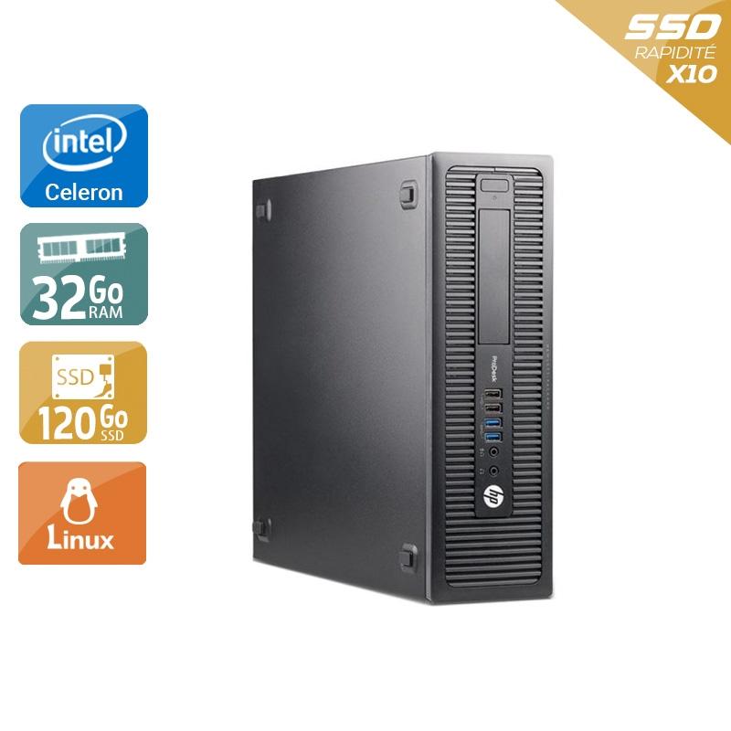 HP ProDesk 600 G1 SFF Celeron Dual Core 32Go RAM 120Go SSD Linux