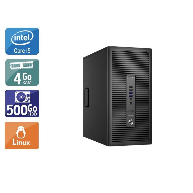HP ProDesk 600 G2 Tower i5 Gen 6 4Go RAM 500Go HDD Linux