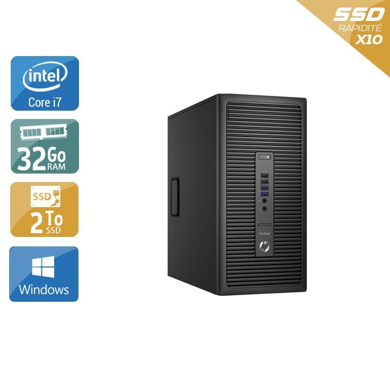 HP ProDesk 600 G2 Tower i7 Gen 6 32Go RAM 2To SSD Windows 10