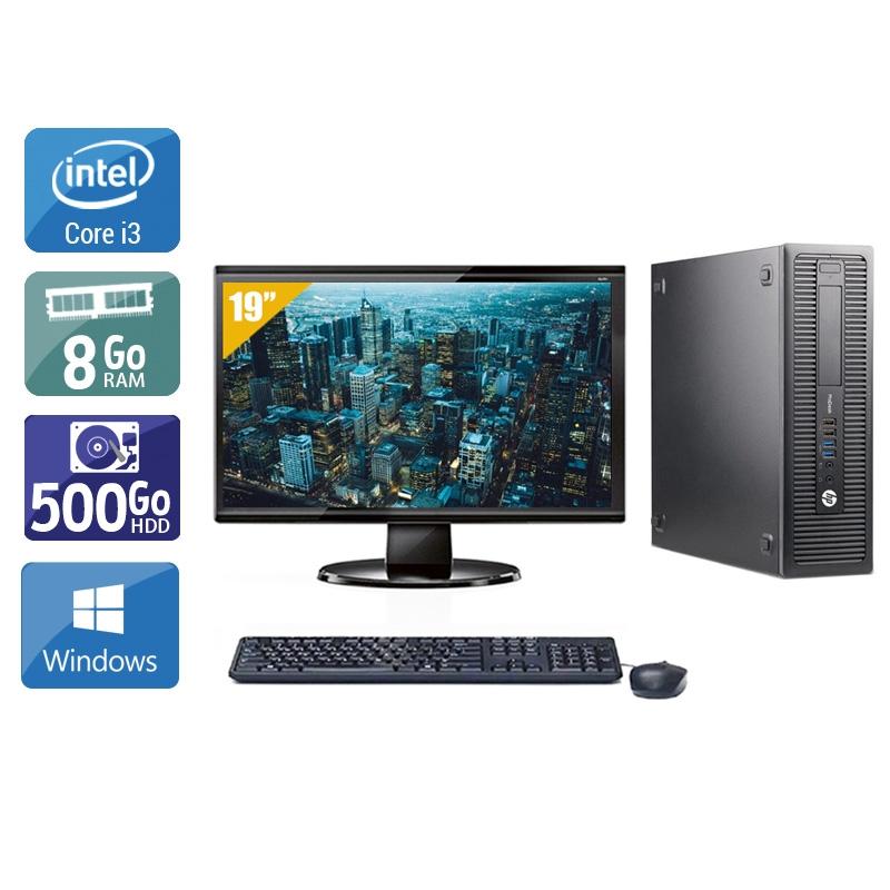 HP ProDesk 600 G2 SFF i3 Gen 6 avec Écran 19 pouces 8Go RAM 500Go HDD Windows 10