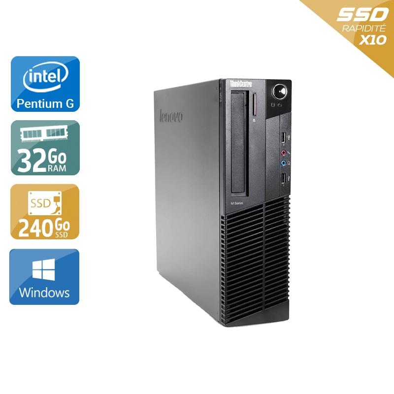 Lenovo ThinkCentre M83 SFF Pentium G Dual Core 32Go RAM 240Go SSD Windows 10