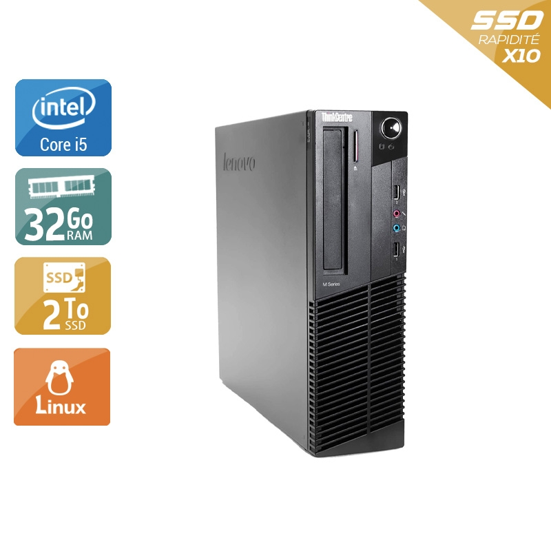 Lenovo ThinkCentre M83 SFF i5 32Go RAM 2To SSD Linux