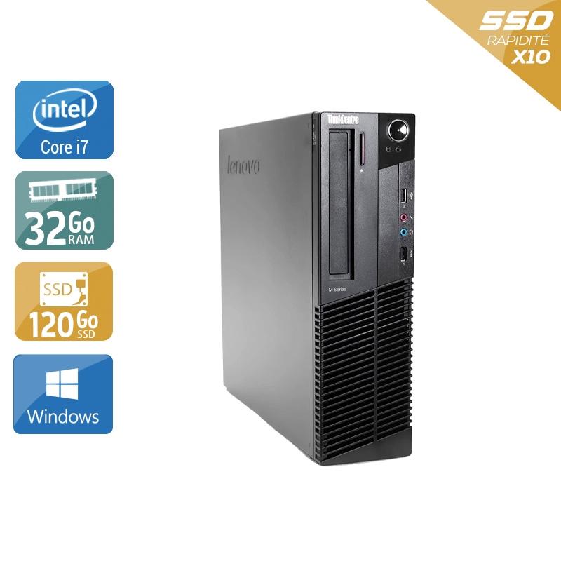 Lenovo ThinkCentre M83 SFF i7 32Go RAM 120Go SSD Windows 10