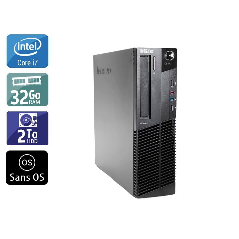 Lenovo ThinkCentre M83 SFF i7 32Go RAM 2To HDD Sans OS
