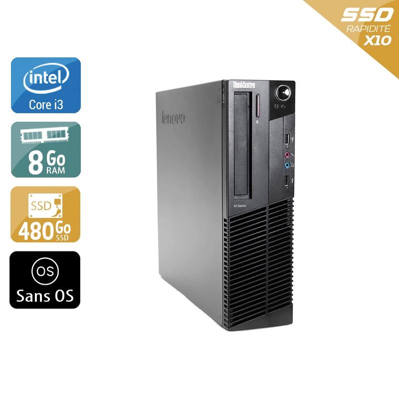 Lenovo ThinkCentre M90 SFF i3 8Go RAM 480Go SSD Sans OS