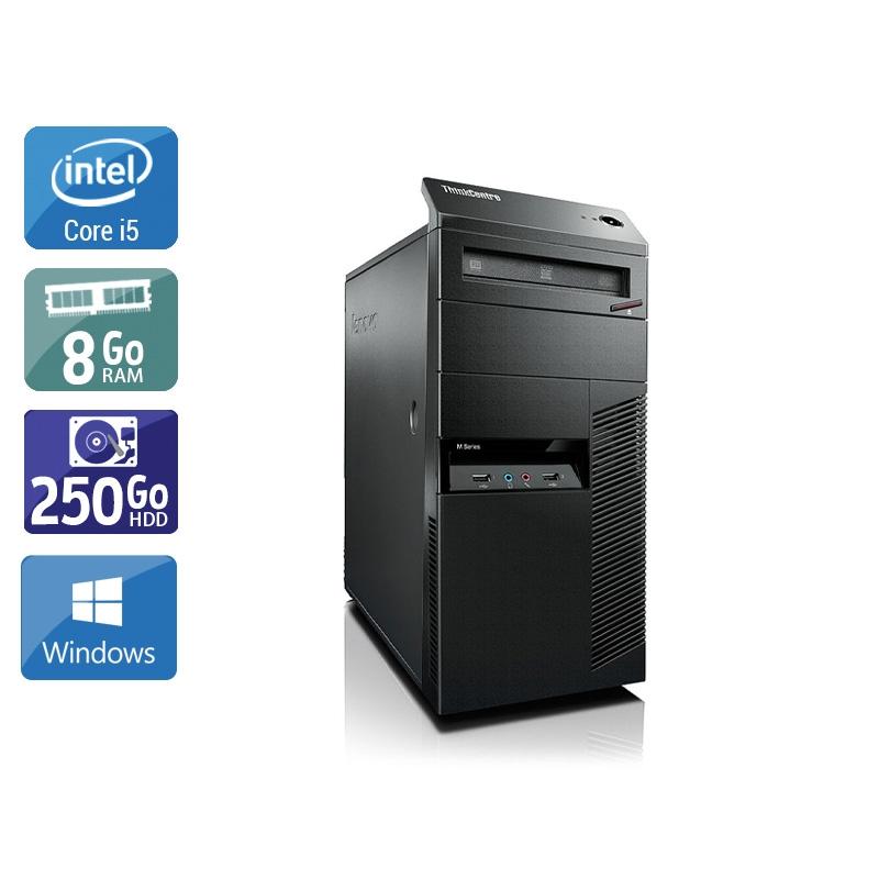 Lenovo ThinkCentre M90 Tower i5 8Go RAM 250Go HDD Windows 10