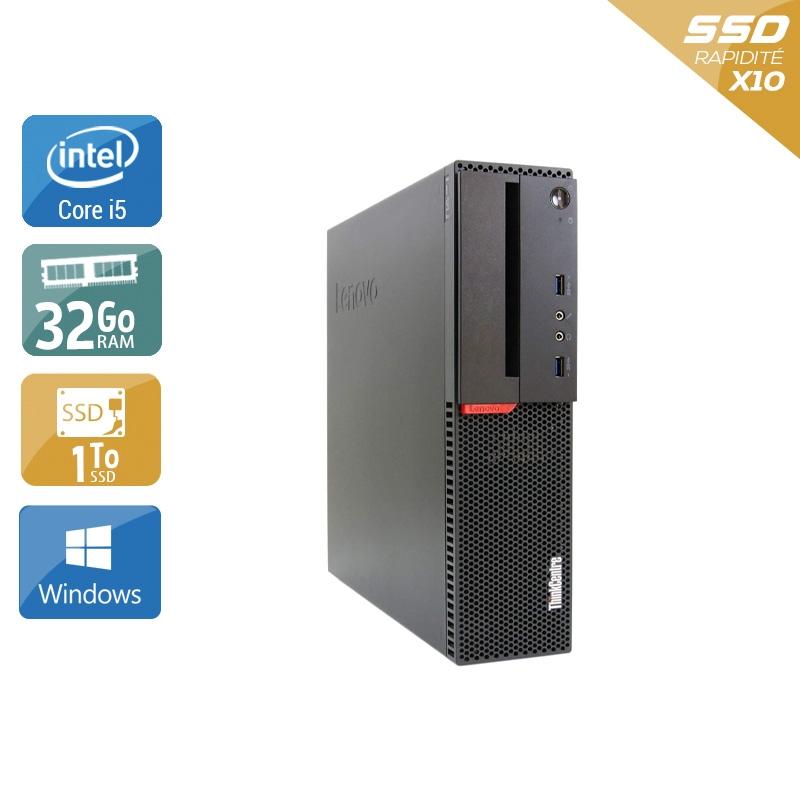 Lenovo ThinkCentre M900 SFF i5 Gen 6 32Go RAM 1To SSD Windows 10