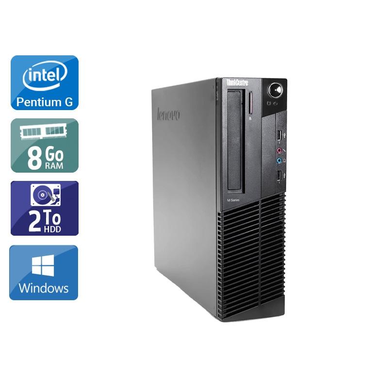 Lenovo ThinkCentre M91 SFF Pentium G Dual Core 8Go RAM 2To HDD Windows 10