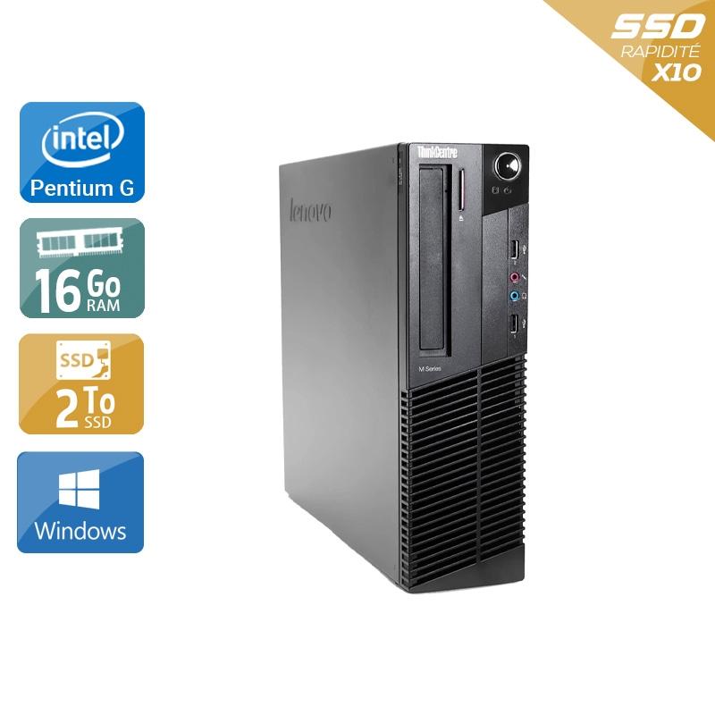 Lenovo ThinkCentre M91 SFF Pentium G Dual Core 16Go RAM 2To SSD Windows 10
