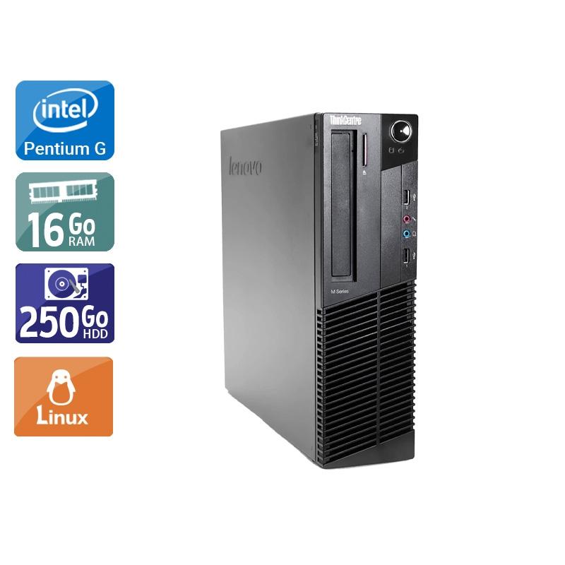 Lenovo ThinkCentre M91 SFF Pentium G Dual Core 16Go RAM 250Go HDD Linux