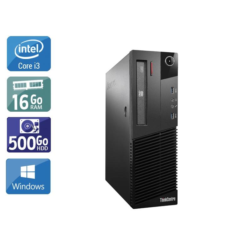 Lenovo ThinkCentre M93 SFF i3 16Go RAM 500Go HDD Windows 10