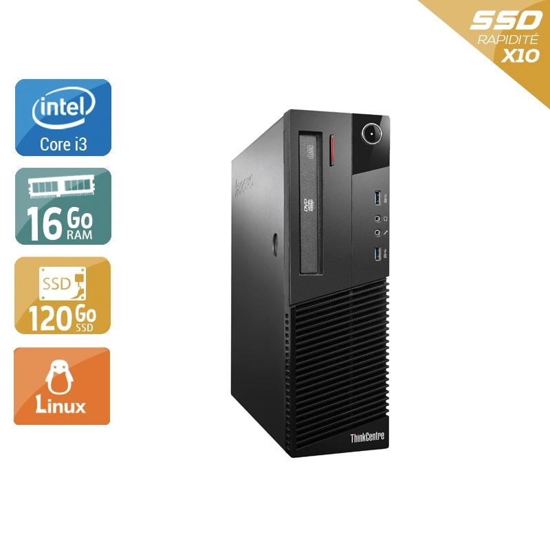 Lenovo ThinkCentre M93 SFF i3 16Go RAM 120Go SSD Linux