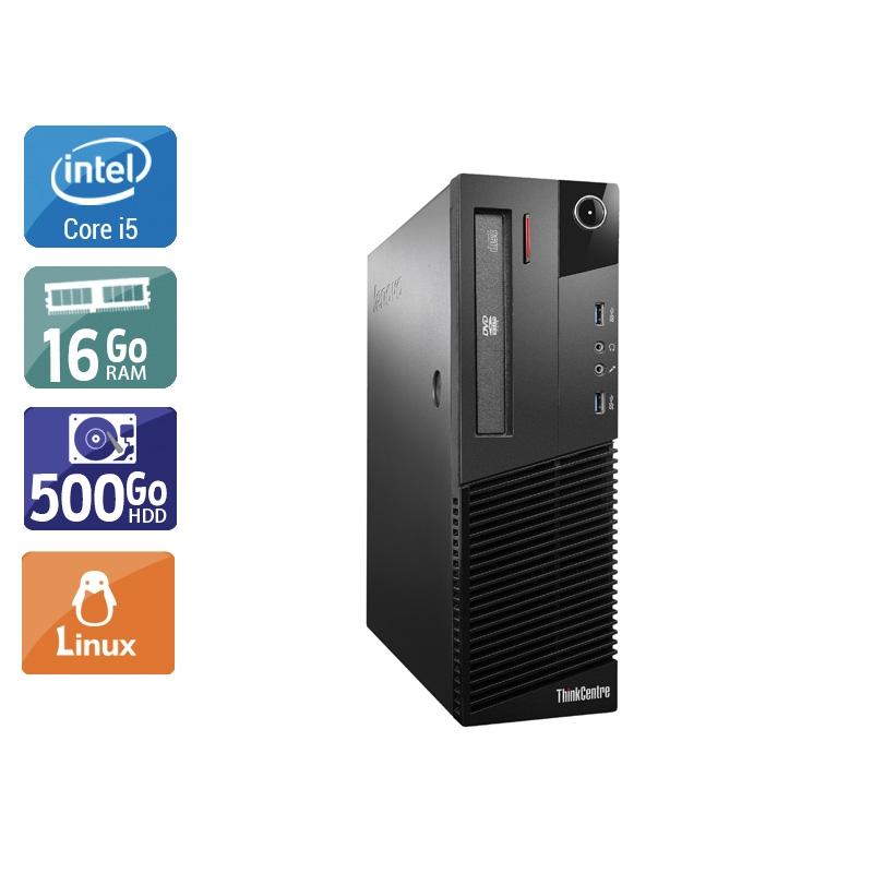 Lenovo ThinkCentre M93 SFF i5 16Go RAM 500Go HDD Linux
