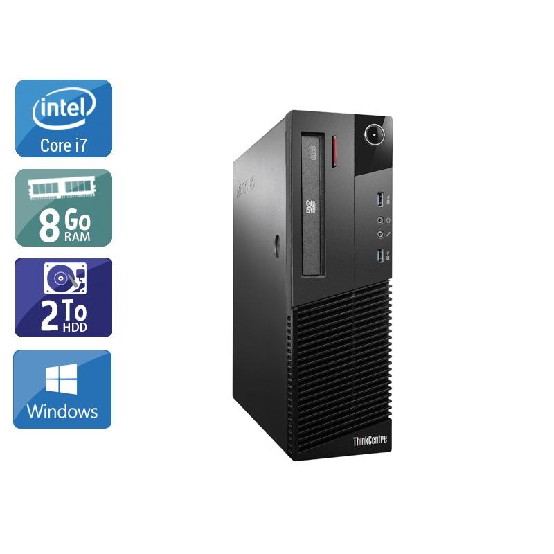Lenovo ThinkCentre M93 SFF i7 8Go RAM 2To HDD Windows 10
