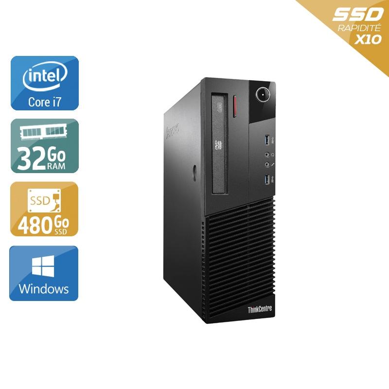 Lenovo ThinkCentre M93 SFF i7 32Go RAM 480Go SSD Windows 10