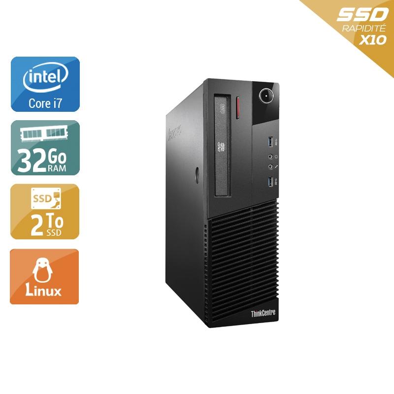 Lenovo ThinkCentre M93 SFF i7 32Go RAM 2To SSD Linux