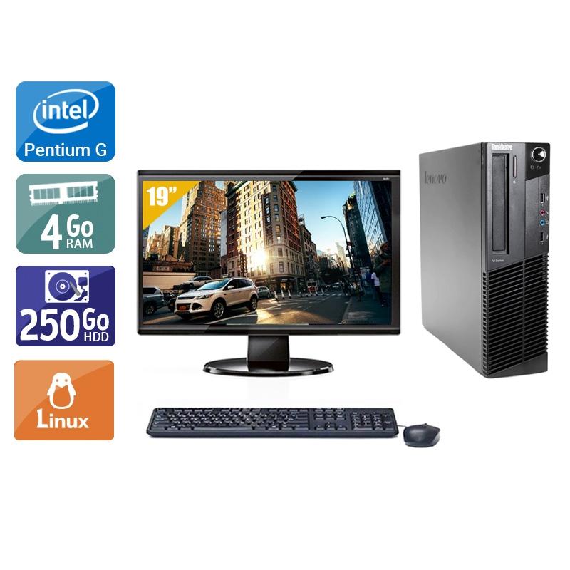 Lenovo ThinkCentre M91 SFF Pentium G Dual Core avec Écran 19 pouces 4Go RAM 250Go HDD Linux