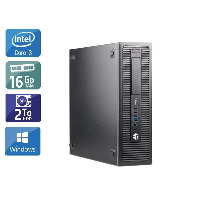 HP ProDesk 600 G1 SFF i3 16Go RAM 2To HDD Windows 10