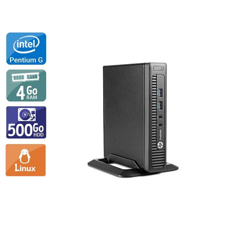 HP ProDesk 600 G1 TINY Pentium G Dual Core 4Go RAM 500Go HDD Linux