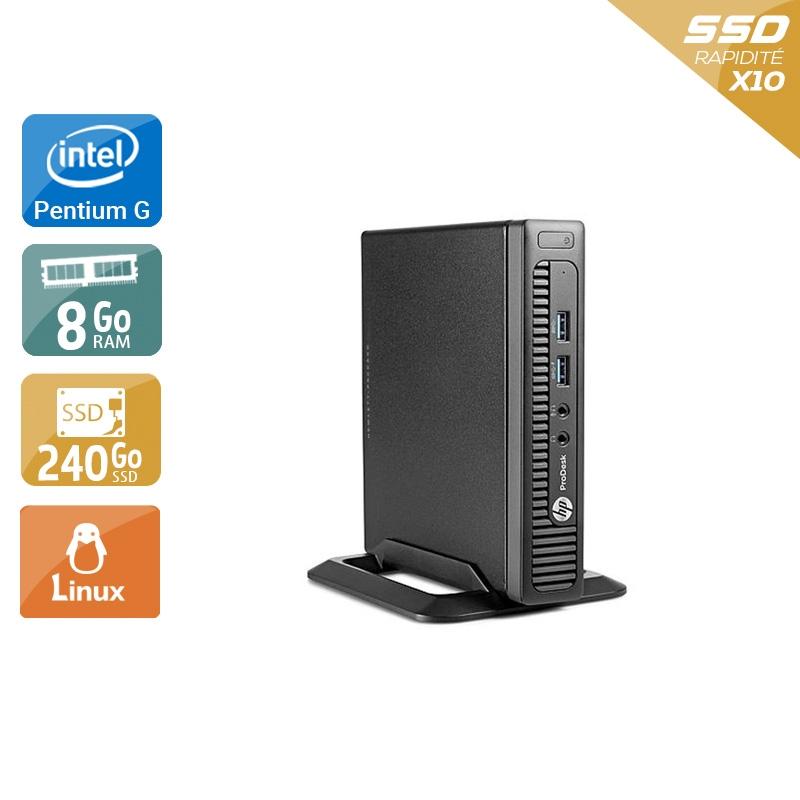 HP ProDesk 600 G1 TINY Pentium G Dual Core 8Go RAM 240Go SSD Linux