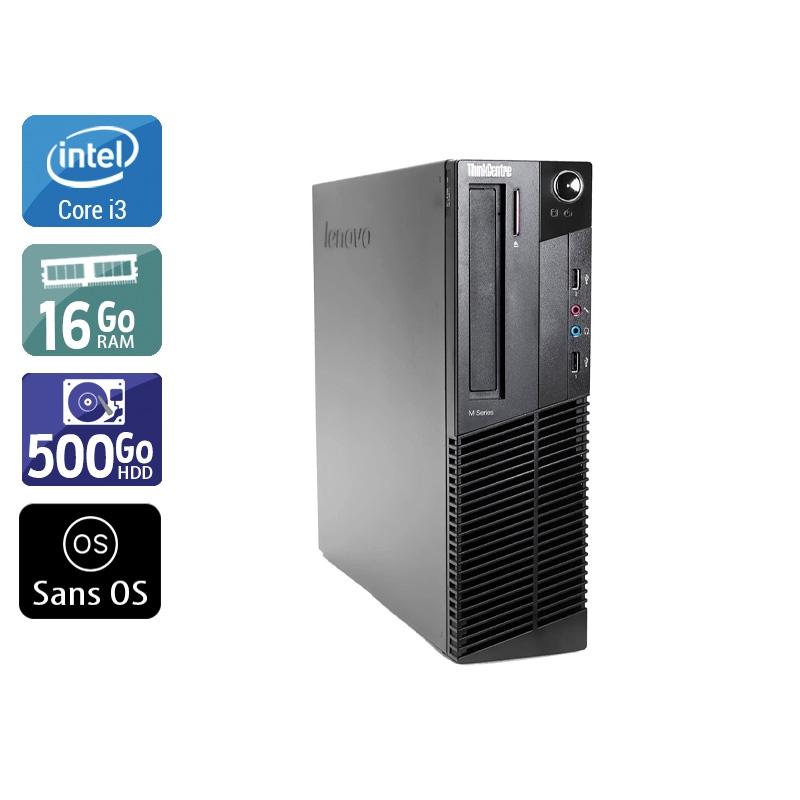 Lenovo ThinkCentre M83 SFF i3 16Go RAM 500Go HDD Sans OS