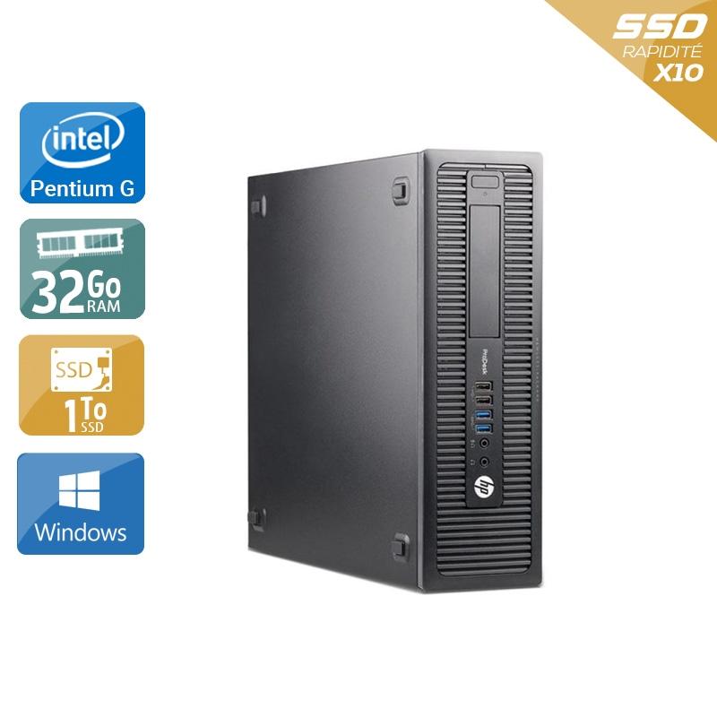 HP ProDesk 600 G2 SFF Pentium G Dual Core Gen 6 32Go RAM 1To SSD Windows 10